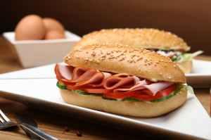 bread breakfast bun close up